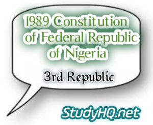 1989 Constitution of Nigeria