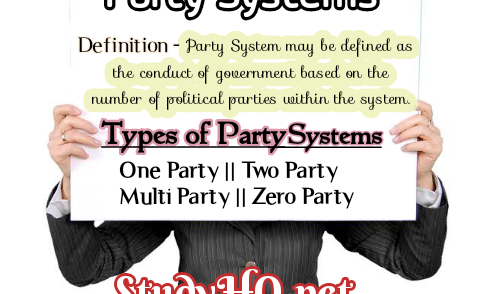 Party Systems; Definition, Types, Explanations, Features, Merits & Demerits